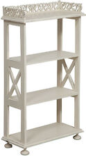 ETAGERE BOOKCASE WOOD mahogany 4 shelves 93 cm x 52 cm WHITE