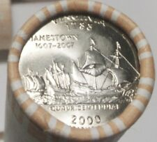 State Quarter Virginia 2000-P new bank roll cond.I ship to USA ONLY.FREE SHIP