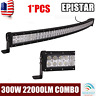 Curved 52inch 300W LED Work Light Bar Flood Spot Combo Offroad Truck Driving 4WD