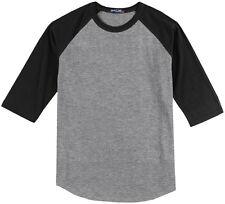 Big Men's Baseball 3/4 Sleeve Raglan T-Shirt 3XL 4XL 5XL 6XL Colored #590