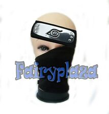 anime naruto hatake kakashi NINJA cosplay face mask & headband cosplay 2pcs/set