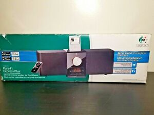 Logitech Pure-Fi Express Plus Speaker for Apple iPod and Most MP !Rare!