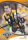 ✺Signed✺ 2009 WESTS TIGERS NRL Card JOHN MORRIS Daily Telegraph