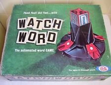 Vintage Ideal WATCH WORD Automated Word Game Complete & Working 2 To 4 Players