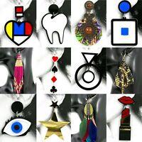 Fashion Jewellery Girls Boho Red Heart Star Beads Drop Studs Women Earrings