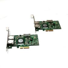 Lot of 2 Dell G218C Broadcom Gigabit Ethernet Dual Port PCI-Express Network Card