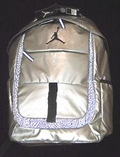 NWT $65 Nike Air Jordan Jumpman Silver & Black Laptop School Bag Backpack NEW