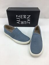 Naturalizer Marianne Blue Leather Slip On Sneakers Size 9.5W M542