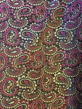 Brocade Fabric By The METRE Paisley Pink