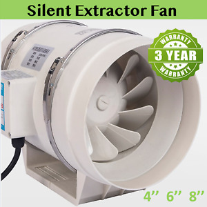 4/6/8 inch Silent Extractor Fan for Extractor Duct Hydroponic Inline Exhaust