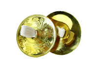 "BELLY DANCE ZILLS HIGH QUALITY 2"" FINGER CYMBALS Set  ENGRAVED BRASS 4 PCS"