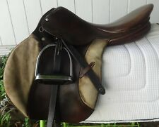 """STUBBEN English/Cross Country Saddle - KERRY - 17"""" - NICE!  Jump, Trails"""
