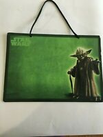 "Master Yoda Disney Star Wars Hanging Dry Erase Board with Marker 11-1/4""x 8""Used"