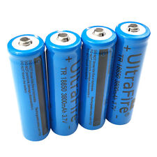 4X 3.7V 18650 3800mah Li-ion Rechargeable Battery for UltraFire LED Torch light