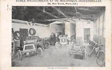 CPA 75 PARIS XVe ECOLE D'ELECTRICITE ET DE MECANIQUE INDUSTRIELLES GARAGE D'AUTO