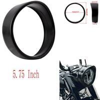 "Black 5.75"" Headlight Bezel Trim Ring Guard Cover Cap For Harley 05 VRSCB Dyna"