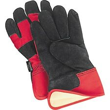 Insulated Winter Cowhide Leather Large Work Gloves Split Cowhide Positherm Lined