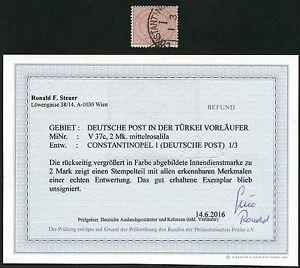 DP Türkei Innendienst V 37c ° Constantinopel Befund Steuer BPP / 46