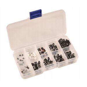100pcs Micro Momentary Tactile Push Button Switch (10 values x 10pcs) Mini SPST