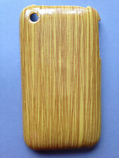 HARD PLASTIC BACK CASE / COVER FOR APPLE iPHONE 3 3GS - WOODGRAIN EFFECT DESIGNS