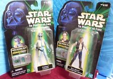 Vtg 1999 Hasbro Star Wars Power Of The Force Han Solo Greedo Figures Nib Sh1D