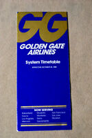 Golden Gate Airlines System Timetable - Oct 26, 1980 - with Supplement