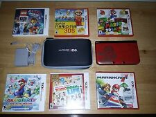[Used] Nintendo 3DS XL Super Mario Bros 2 Gold Limited Edition W/6+ 3DS Games