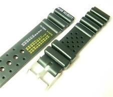 "18mm Black Rubber Sport Diver Watch Strap Band ""Wind Velocity"" WR144"