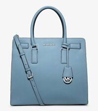 MICHAEL KORS DILLON SKY SAFFIANO LEATHER LARGE NORTH SOUTH TOTE BAG