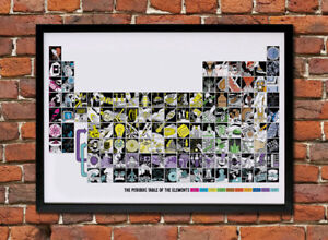 Illustrated Periodic Table of the Elements - A1 Giclee Print (unframed)