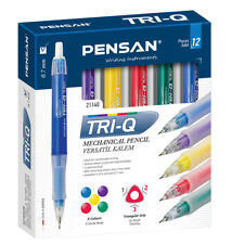 12  Mechanical Pencils. 0.5mm. Great Quality. 3 Free leads & Eraser Tip