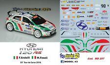 DECAL  1/43 -  HYUNDAI i20  R5  - ANDOLFI  - Rally  CORSICA  2016