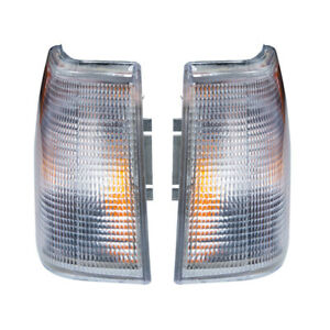 1 Pair Corner Marker Turn Light Signal Side Fit For Volvo 960 940 740