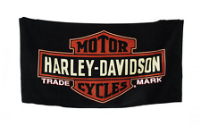 Harley Davidson Motor Cycles Logo Beach Towel 30 X 60 in.