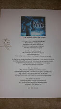 ICE NINE KILLS People Under the Stairs Spencer SIGNED AUTOGRAPHED LYRIC SHEET #E