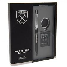 West Ham United F.C. Pen & Keyring Set Gift for Him Valentines Birthday Present