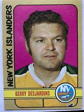 1972/73 Topps Hockey Card #38 Gerry Desjardins New York Islanders EX/MT+