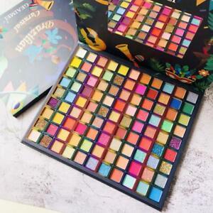 99 Carnival Colors Eye Shadow Makeup Palette Glitter Shimmer Silky Eye Gift kids