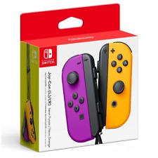 New NINTENDO SWITCH Purple Orange Joycons (Straps & Joy-con L R Attachment Incl)