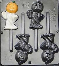 Pumpkin Ghost Lollipop Chocolate Candy Mold Halloween  939 NEW