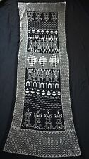 Black Egyptian Assuit Silver metal / net tulle fabric Wrap Shawl Scarf
