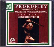 Mstislav ROSTROPOVICH: PROKOFIEV Symphony No.4 Erato CD 1988 Prokofjew Sinfonie