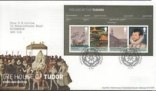 GB 2009 FDC Kings & Queens House of Tudor Minisheet handstamp Edinburgh Stamps