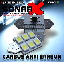 2 AMPOULE 6 LED SMD C5W C3W C10 NAVETTE 37MM BLANC SANS POLARITE ANTI ERREUR ODB