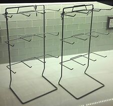 12 Peg Counter Top Display Rack in Silver - 17.75 H x 10 W Inches