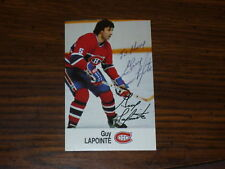 GUY LAPOINTE Autographed ESSO Hockey Card-MONTREAL HABS