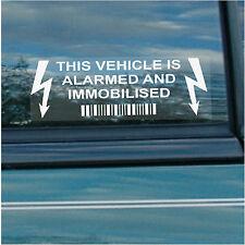 5 X este vehículo, automóvil, Camioneta, Taxi, mincab, Alarma Y immobiliser seguridad pegatinas