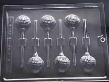 GOLF BALL CHOCOLATE LOLLIPOP LOLLY MOULD MOLD 6 ON 1 MOULD