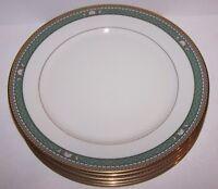 "LOVELY SET OF 5 MIKASA FINE CHINA BASKARA L3208 ISLE JADE 10 3/4"" DINNER PLATES"