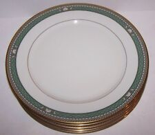 "LOVELY SET OF 5 MIKASA FINE CHINA BASKARA L3208 ISLE JADE 10 3/4"" DINNER PLATES"